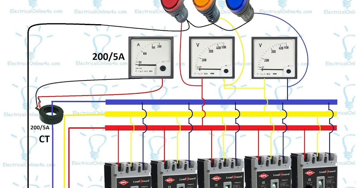3    Phase    Distribution Board    Wiring       Diagram     Electrical