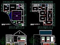 Download Desain AutoCad Rumah Type 100
