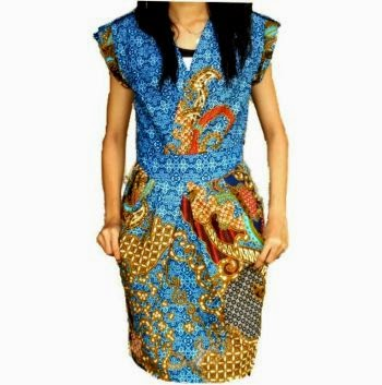 Model baju batik terbaru, baju batik wanita modern