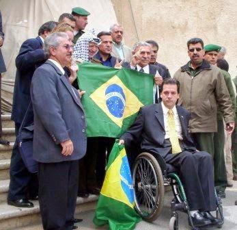 Brasileiros com Yasser Arafat