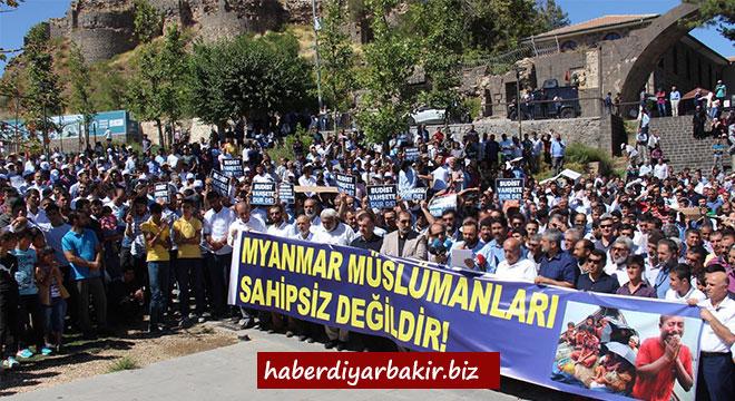 Budist Myanmar yönetimi Diyarbakır'da lanetlendi