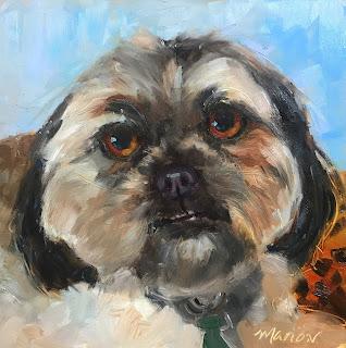 oil painting, dog portrait, pet memorial, pet portrait in oil