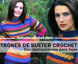 Patrones de Suéter de Mujer a Crochet / Paso a paso