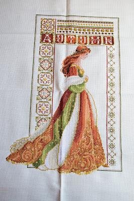 Celtic Autumn Lavender and Lace. Punto de cruz