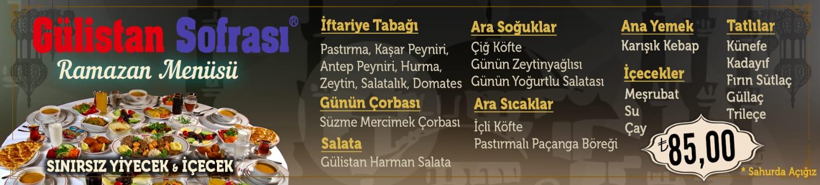 gülistan sofrası pendik istanbul ramazan 2019 iftar ve sahur menüleri