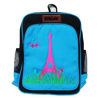 tas anak eiffel, tas sekolah anak, tas anak aikids