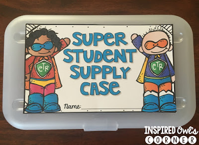 Student Supply Label Freebie