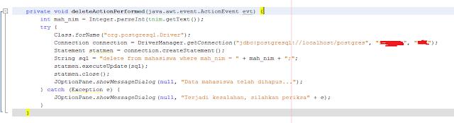 Kelas Informatika - Source Code Delete Action Performed