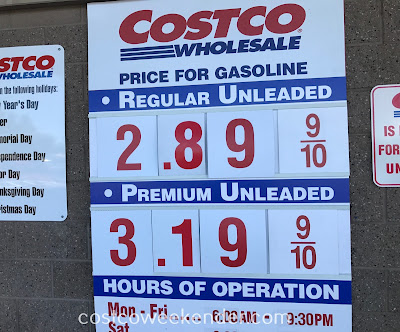 Costco gas for May 31, 2017 at Redwood City, CA