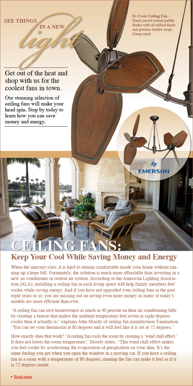 Enlightening  Residential Lighting Blog   Ceiling Fans