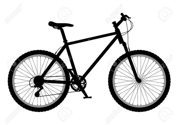 Mountain Bike Illustration Stock Vector