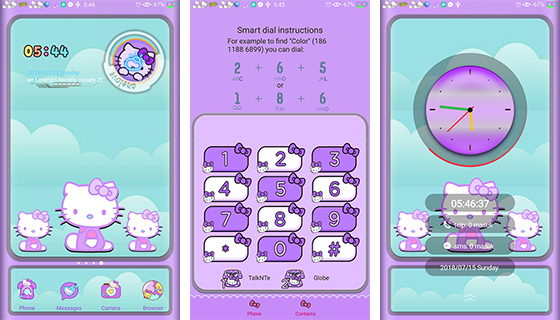 Oppo Theme: Oppo Hello Kitty Purple Theme