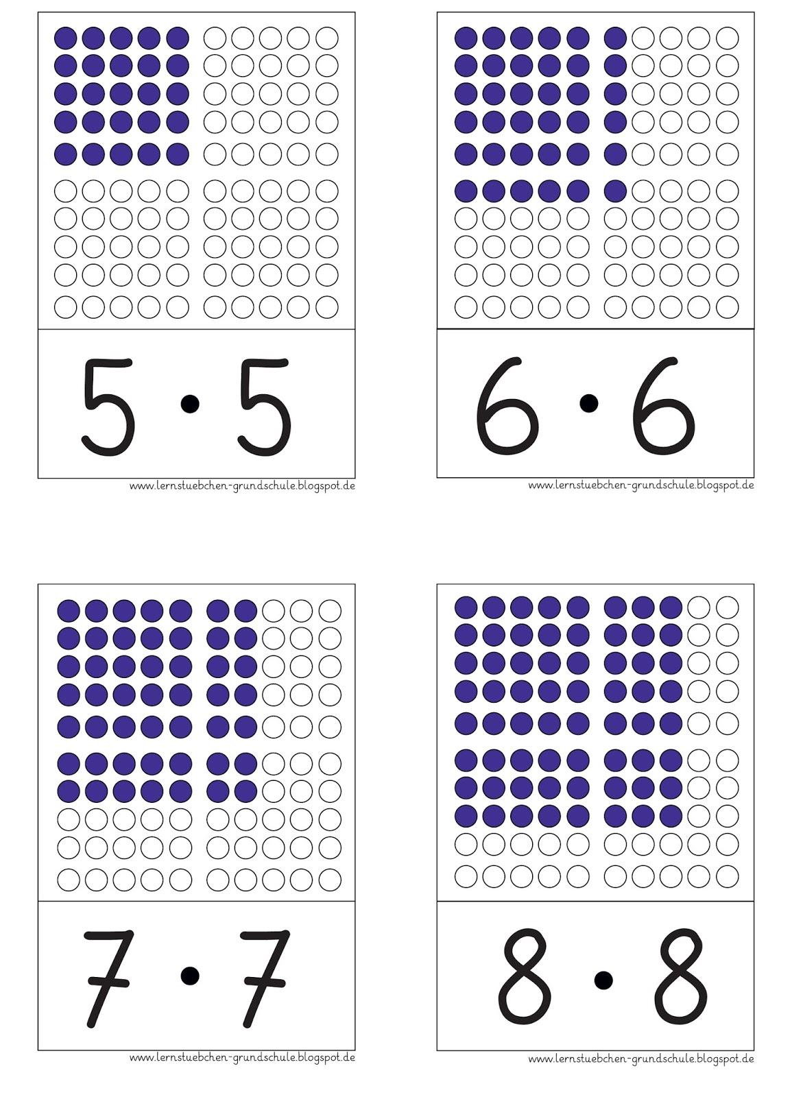 lernst252bchen hier die quadratzahlen als aufgabenkarten