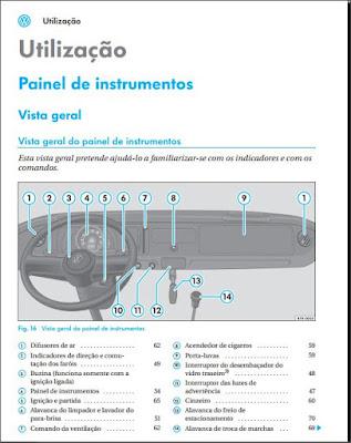 Manual do proprietário VW Kombi