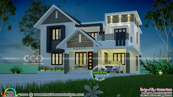 2072 square feet mixed roof home plan