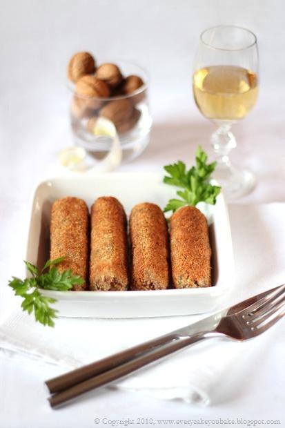 krokiety orzechowe z orzechów włoskich i kaszy jęczmiennej