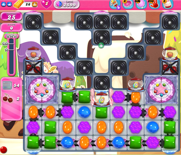 Candy Crush Saga level 2599