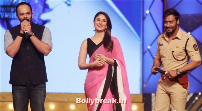 Rohit Shety, Kareena Kapoor and Ajay Devgn, Bollywood Celebs at Umang Police Show 2014