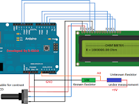 Simple Arduino Digital Ohmmeter Circuit
