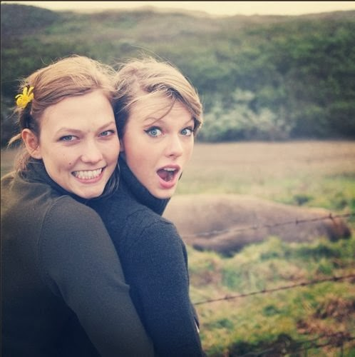Taylor Swift with Karlie Kloss
