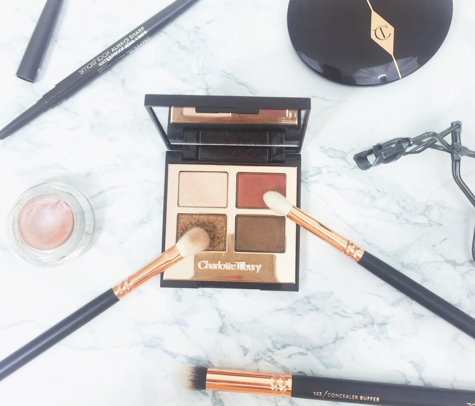 Charlotte Tilbury The Dolce Vita Eyeshadow Quad Review