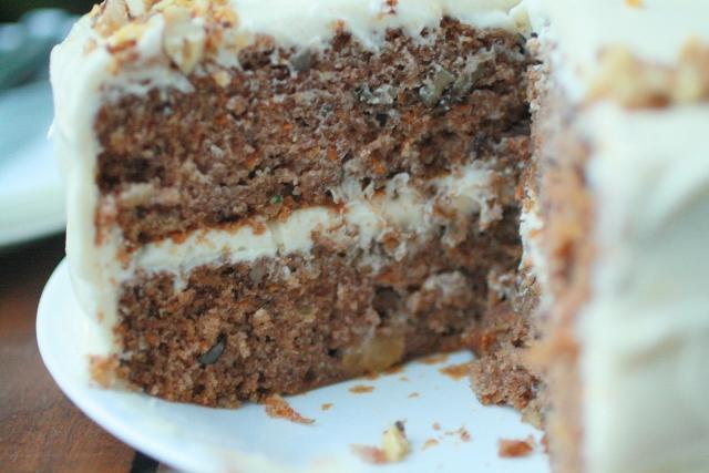 Torta de zanahoria, piña y nueces / Carrot, pineapple, nut cake