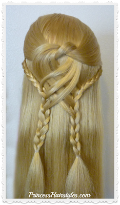 Half up braided hairstyle tutorial. Swirling braids.