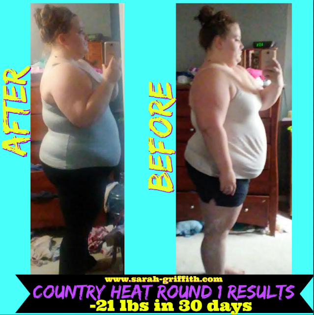 country heat, country heat transformation, country heat success story, country heat womens transformation, sarah griffith, top beachbody coach, country heat results,