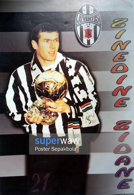 Poster Zinedine Zidane (Juventus 1998)