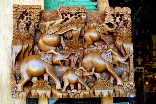 Beautiful Bali Mas Woodcarving Village
