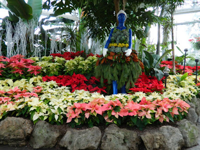 Floral skater at the Allan Gardens Conservatory Christmas Flower Show 2015 by garden muses-not another Toronto gardening blog