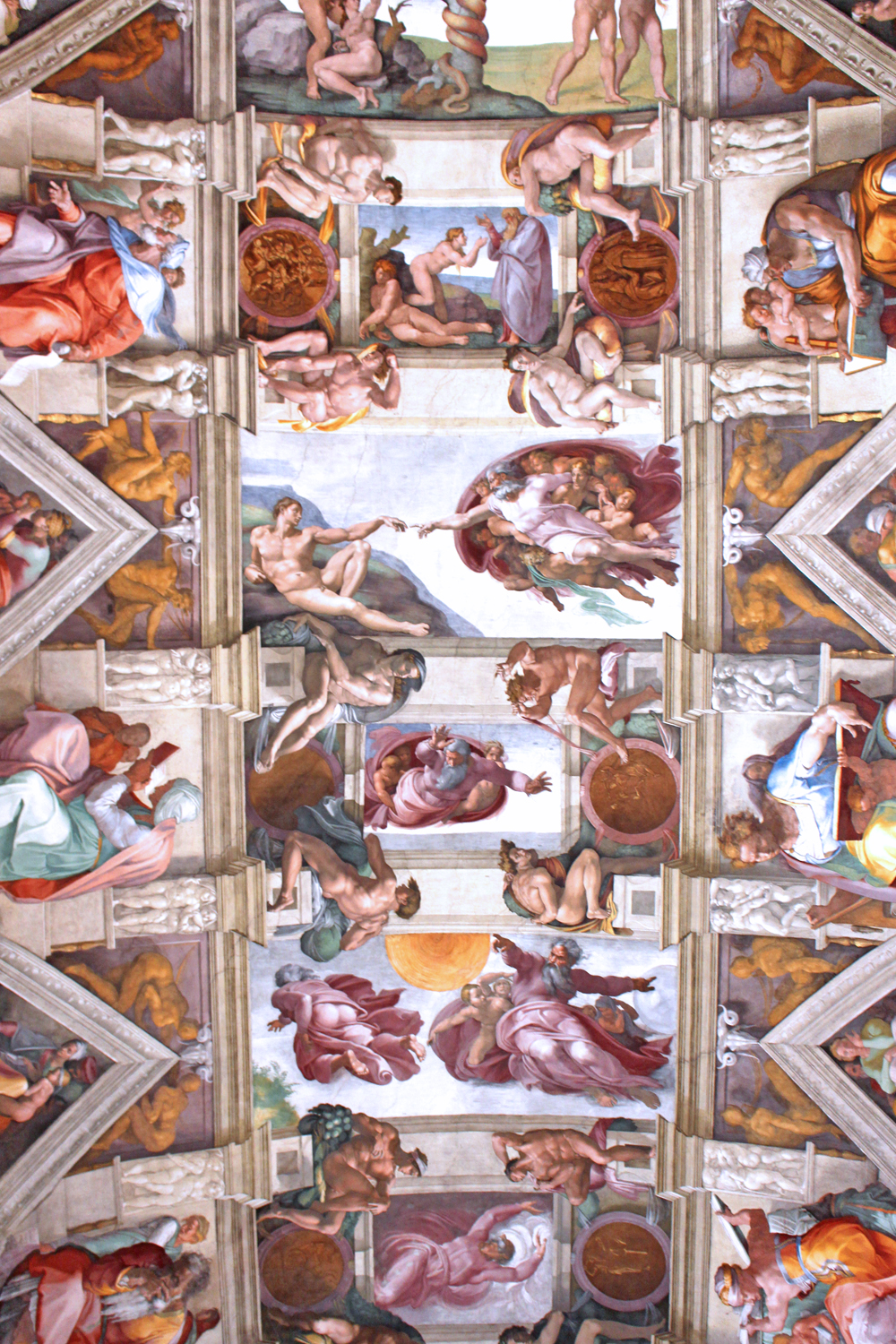 Adam and the Hand of God at the Sistine Chapel, Vatican City - Rome travel blog