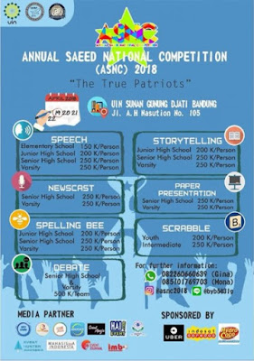 Event Annual Saeed National Competition (ASNC) 2018 UIN Sunan Gunung Djati