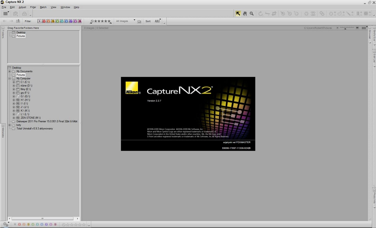 Keygen krak serial Nikon Capture nx2