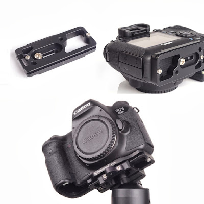 Sunwayfoto PC-6D custom plate on Canon EOS 6D - bottom view
