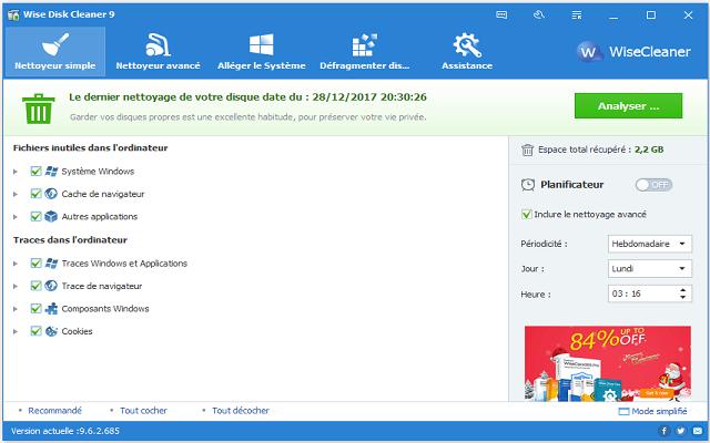 تحميل برنامج تنظيف وتسريع الكمبيوتر Wise Disk Cleaner 9.62 آخر إصدار