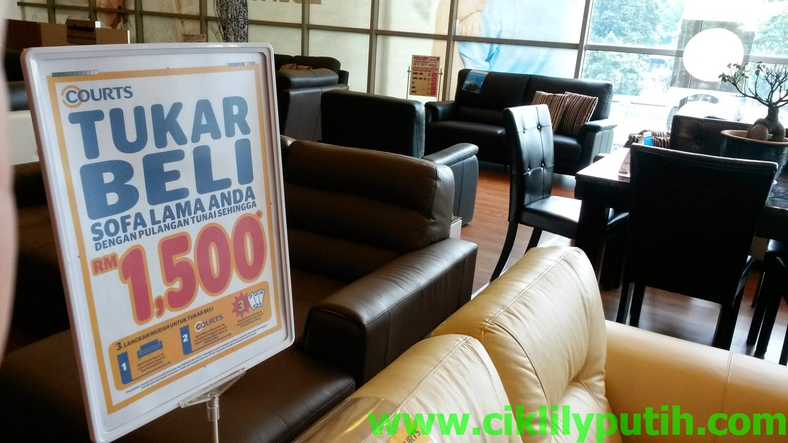 courts sofa malaysia brown faux leather set ciklilyputih the lifestyle blogger shopping raya bagus di