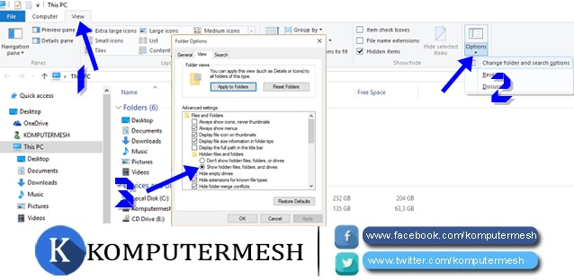 Cara Menampilkan Folder Tersembunyi (Hidden) Windows 7/8/10