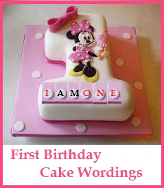 birthday cake wordings ideas what to write on 1st