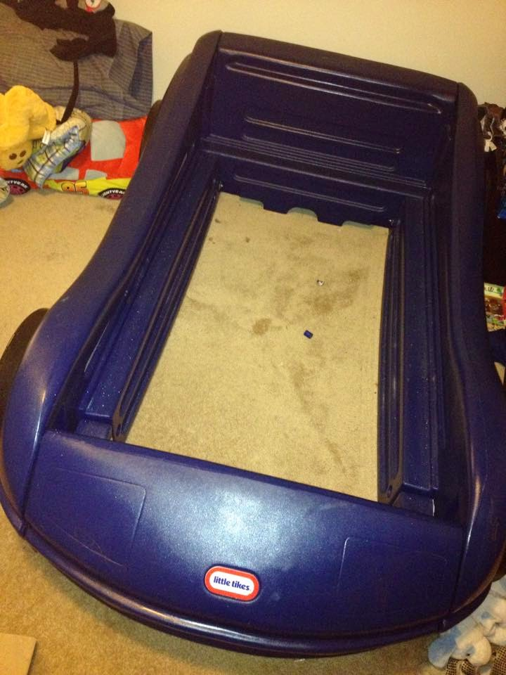 little tikes car bed, race car bed, bed frame