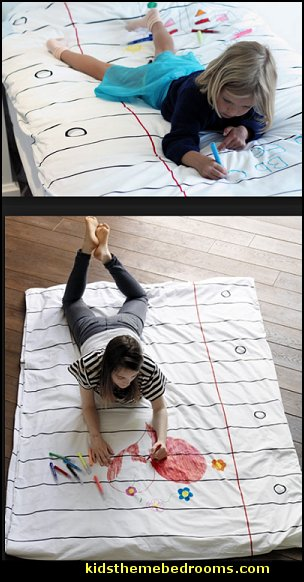 Doodle Duvet notebook paper blankets  blankets that look like a notebook paper