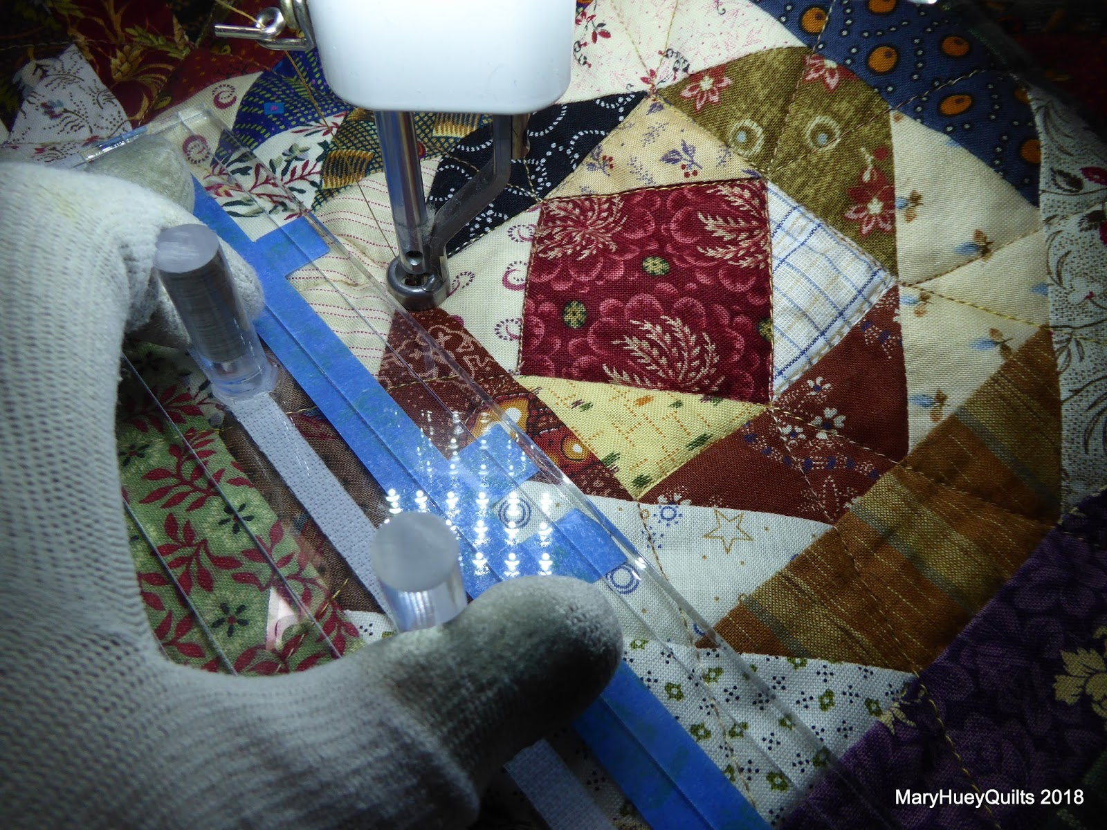 Drawing Lines For Quilting : Quilting through rose colored trifocals