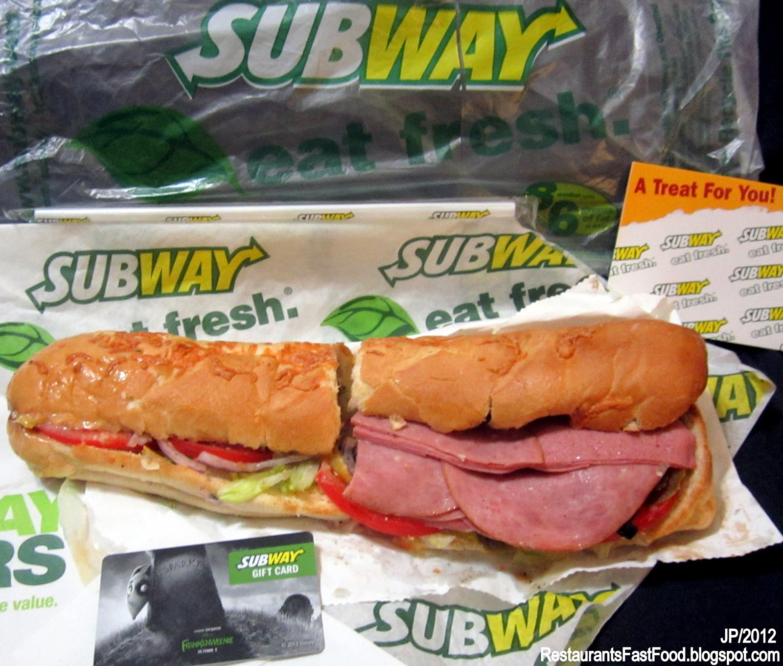 Subway Cold Cut Sandwich