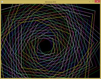 [Lập trình đồ họa máy tính cơ bản] Vẽ hình vuông xoắn ốc bằng C++