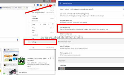 setting notifikasi di browser chrome