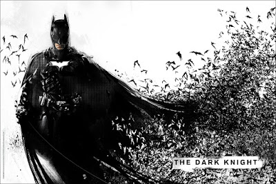 Emerald City Comicon 2016 Exclusive The Dark Knight Screen Print by Jock x Mondo