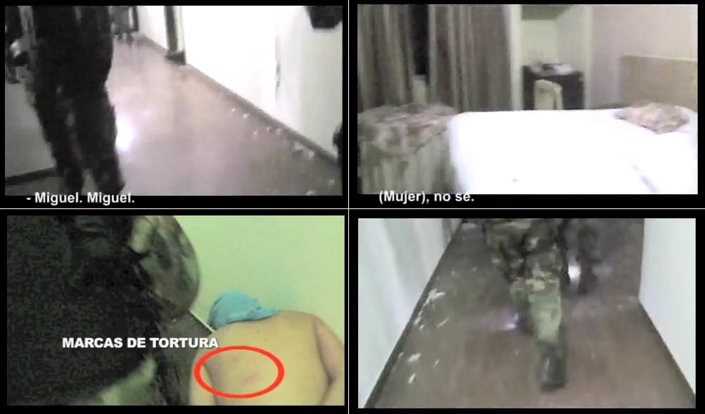 Parte de un video que captó las acciones posteriores de la UTARC en el Hotel Las Américas / CAPTURA PANTALLA