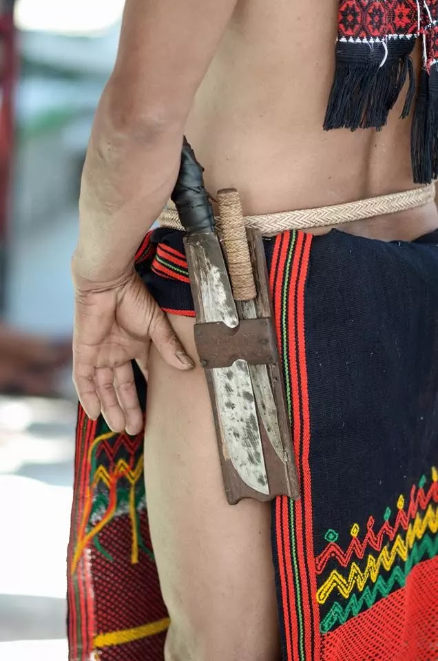 Mountain Province Ethno-Indigenous Man with Tribal G string Colours and Hunting Implements