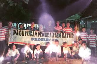 Menyambut Tahun Baru 2019 Pemuda Asam Bator Desa Padelegan Gelar Pawai Obor dan Musik Daul
