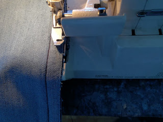 make nice seam with overlock on old jeans craftrebella